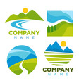 green nature landscape templates for company vector image