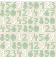 Turquoise number pattern vector image vector image