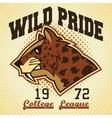 Wild pride sports mascot vector image