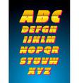 Retro style alphabet font vector image vector image