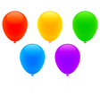color balloons vector image vector image