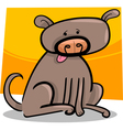 cartoon doodle of dog vector image vector image