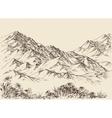 Mountain peaks altitude landscape vector image