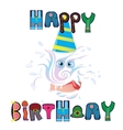 beautiful wish happy birthday for any person vector image