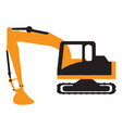 excavator vehicle icon vector image