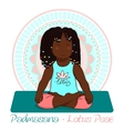 girl in Lotus Pose with mandala background vector image