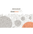 restaurant Doodle Website Template Design vector image