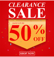 Sale poster with discount vector image