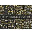 Seamless pattern with words vector image
