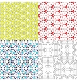 set pattern - geometric seamless simple modern vector image