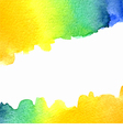 watercolor orange yellow blue green background vector image