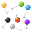 Color realistic map pins set vector image