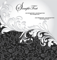 black and silver invitation card vector image