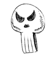 Sly skull isolated on white vector image