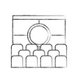 cinema scene isolated icon vector image