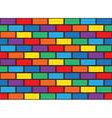 rainbow bricks pattern vector image