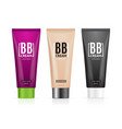 realistic 3d empty template bb cream tubes package vector image vector image