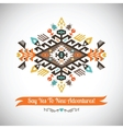colorful decorative element on native vector image