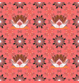 flowers on pink neutral and orange colorscolour vector image