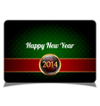 Green new year celebrate card vector image