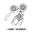 hand spinner drawing vector image