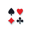 set of flat playing card suit signs vector image