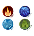 symbols four elements of nature vector image