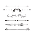 Text separators deccoration set vector image