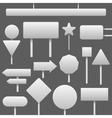 traffic blank signs set vector image