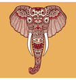 Zentangle stylized Indian Elephant Hand Drawn lace vector image