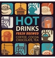 logo for hot drinks vector image