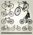 Bicycle retro vector image