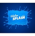 Water splash with blue vector image