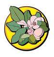 apple flower clip art yellow vector image
