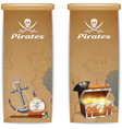 Pirate Banner Vertical vector image