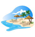 beach resort vector image vector image