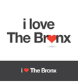 i love the bronx vector image
