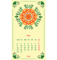 template calendar 2016 for month May vector image