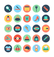 Fashion and Beauty Colored Icons 5 vector image