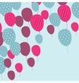 Retro Balloon Pattern vector image