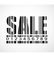 Barcode Sale Sign Image vector image