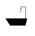 bathtub black vector image