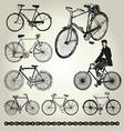 Bicycle retro vector image