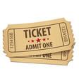 cinema ticket conceptual vector image