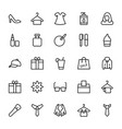 fashion line icons 1 vector image