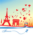 france holiday background vector image