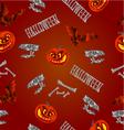 Seamless texture Halloween pumpkins bats skulls vector image