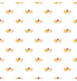 wedding doves with heart pattern seamless vector image