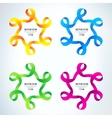 set Ribbon stars vector image