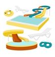 Water amusement park vector image